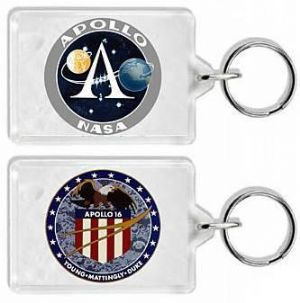 NASA Apollo 16 Mission Insignia Keyring